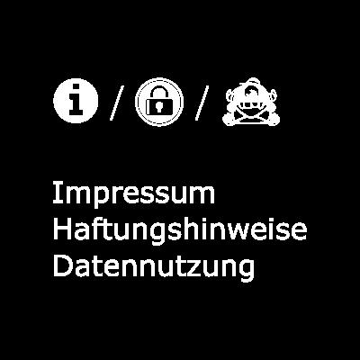 Button für Impressum, Haftungshinweise und Datennutzung