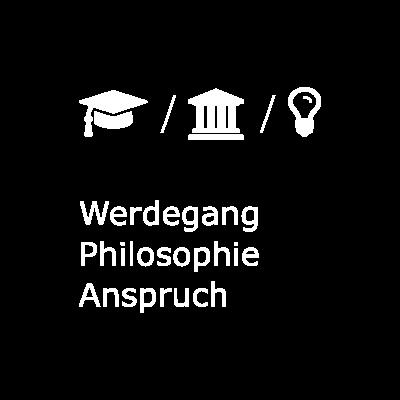 Button für Werdegang, Philosophie und Anspruch