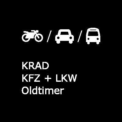 Button für private Motorrad, KFZ, LKW und Oldtimerversicherung